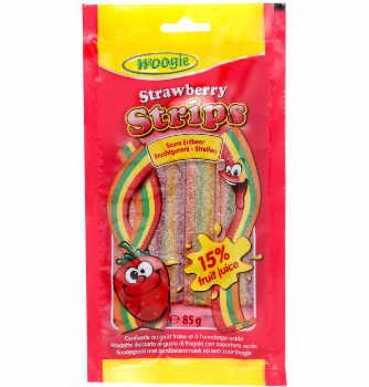 Sour Strawberry Strips 85g
